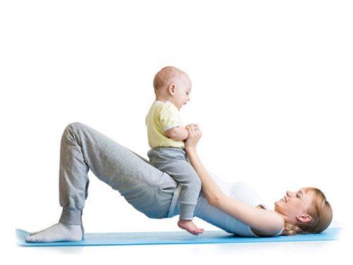 Упражнения для мамы с малышом