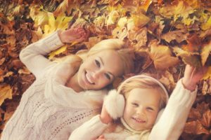 Осенние мамы