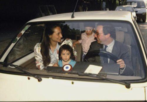 рансуа Холланд со своими детьми
