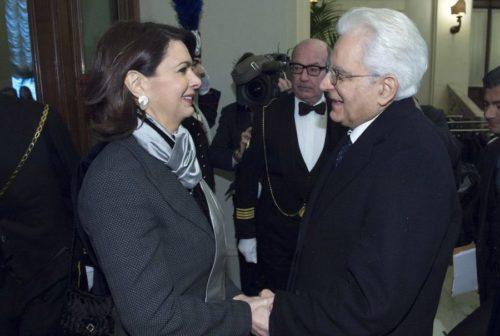 Президент Италии со своей дочерью