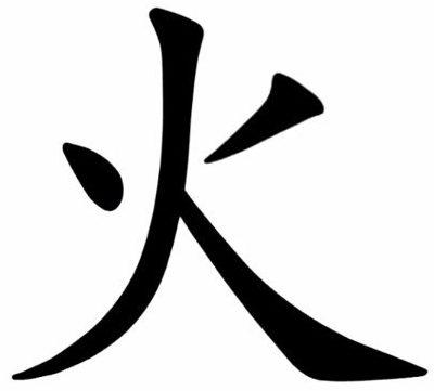 Иероглиф в китайском языке, означающий огонь