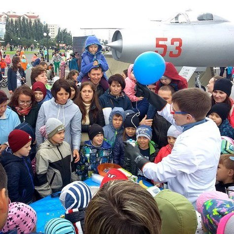 Позитрон на празднике города Казань