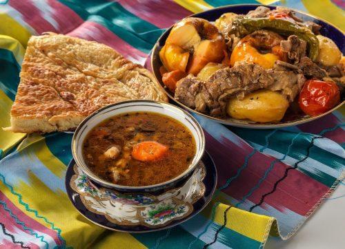 Традиционный узбекский обед