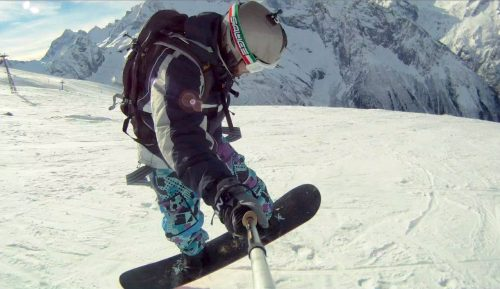 Яркий горнолыжный спуск
